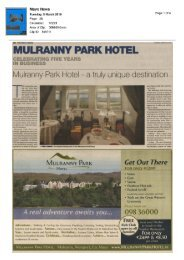 Mayo News Feature -March 2010 - Mulranny Park Hotel