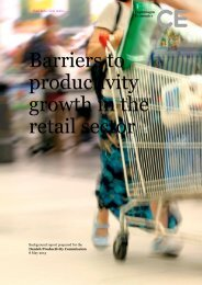 Barriers to productivity growth in the retail sector