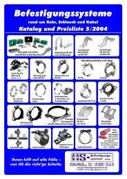 Preisliste2004, 020303, aktuell.pub - HS-Befestigungssysteme