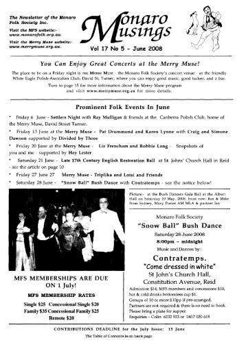 June 2008 Vol 17 No 5 - TIP Members Web Server