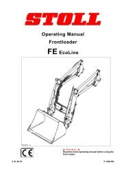 operating manual frontloader fe ecoline - stoll