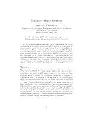 Elements of Haptic Interfaces - University of Pennsylvania