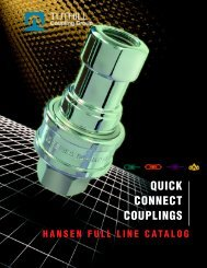 Hansen Quick Connect Couplings Catalog - Chester Paul Company