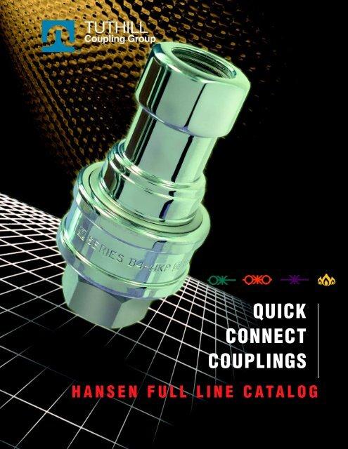 Hansen Coupling #12-HK 1-1//2 FPT-1-1//2 Quick Conncect