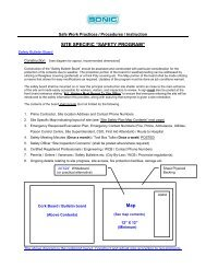 """SITE SPECIFIC """"SAFETY PROGRAM"""" Map - Sonic Drilling Ltd."""