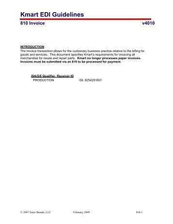 kmart edi guidelines 810 invoice v4010 jobisez llc