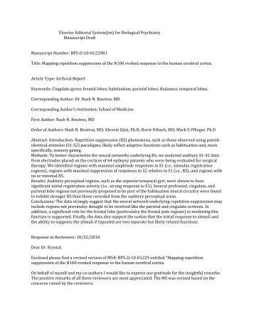 Elsevier Editorial System(tm) for Biological Psychiatry Manuscript ...