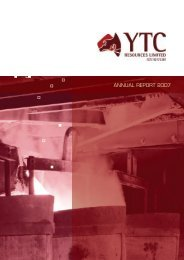 ANNUAL REPORT 2007 - YTC Resources