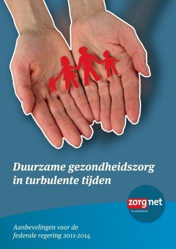 Duurzame gezondheidszorg in turbulente tijden - Zorgnet Vlaanderen