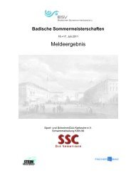 Meldeergebnis - Sport und Schwimmclub Karlsruhe eV