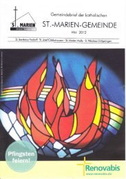 Gemeindebrief Mai 2012 - St. Marien
