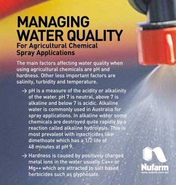 MANAGING WATER QUALITY - Pest Genie