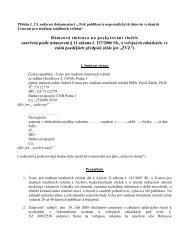 """Příloha č. 2 k zadávací dokumentaci -""""Tisk publikací a ..."""