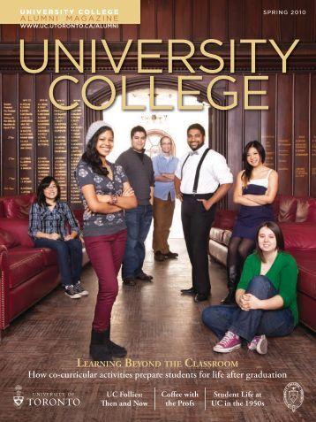 Spring 2010 - University College - University of Toronto