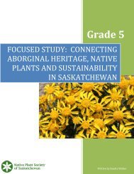 Grade 5 Lesson Plan - Native Plant Society of Saskatchewan