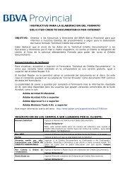 instructivo para la elaboracion del formato ... - Banco Provincial