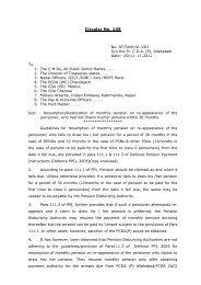 Circular No. 149 - Controller of Defence Accounts (Pensions)