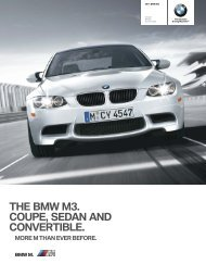 THE BMW M3. COUPE, SEDAN AND CONVERTIBLE.