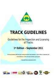 2012 Track Guidelines - Motorcycling Australia