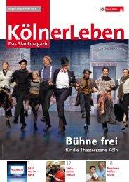 KölnerLeben Ausgabe 4, August/September 2012 [ PDF ... - Stadt Köln