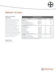 Makrolon® AU sheet - Sheffield Plastics