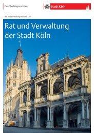 Broschüre Rat und Verwaltung der Stadt Köln [ PDF