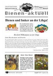 bienen-aktuell Nr. 31 - Liechtensteiner Imkerverein