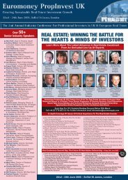 real estate - Euromoney Institutional Investor PLC