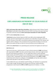 press release cirfs announces retirement of colin ... - FiberSource