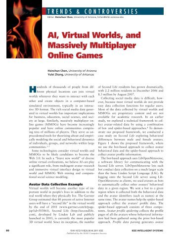 AI, Virtual Worlds, and Massively Multiplayer Online Games