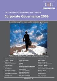 Corporate Governance 2009 - Arnold Bloch Leibler