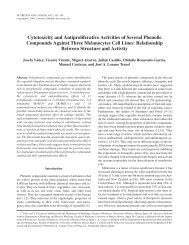 Cytotoxicity and Antiproliferative Activities of Several Phenolic ...