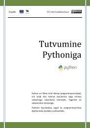 Sissejuhatus Pythonisse (pdf) - TTÜ