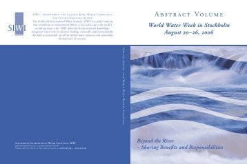 2006 Abstract Volume - World Water Week