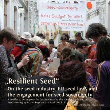 """Resilient Seed"" - the booklet - Saatgutkampagne"