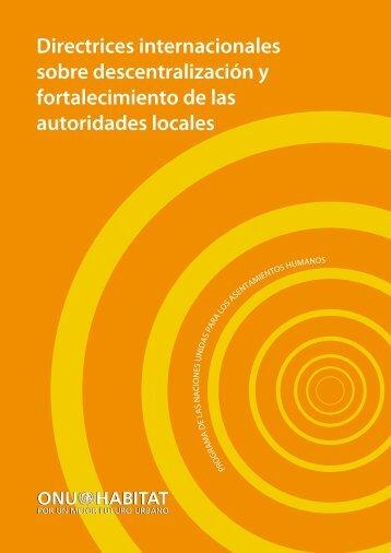 Directrices Internacionales sobre Descentralización y acceso a los ...