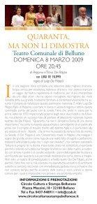 spettacolo - Circolo Cultura e Stampa Bellunese - Page 2