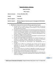 Rapport de mission – Cameroun Appui technique Mary J Kante ...