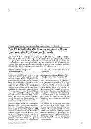 Die Richtlinie der EU über erneuerbare Ener- gien und die Position ...