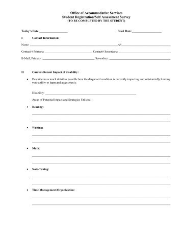 Download Criteria For Student SelfAssessment
