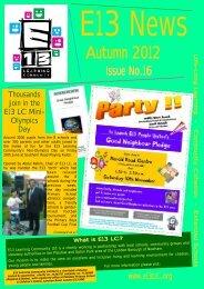 Autumn 2012 Newsletter - E13 Learning Community