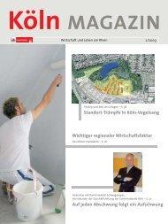 Wichtiger regionaler Wirtschaftsfaktor Auf jeden ... - Stadt Köln