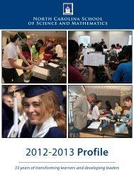 NCSSM Profile - North Carolina School of Science and Mathematics