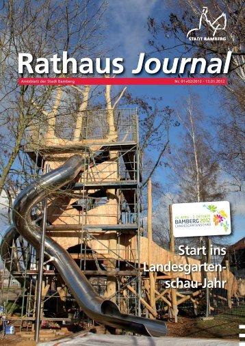 Rathaus Journal Nr. 01/02 vom 13.01.2012 - Stadt Bamberg