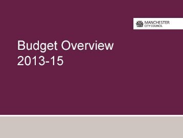 Budget Implications - Manchester Strategic Housing Partnership
