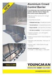 Aluminium Crowd Control Barrier - F R Scott Ltd