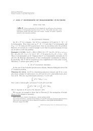 Lp AND Hp EXTENSIONS OF HOLOMORPHIC FUNCTIONS 1. An ...