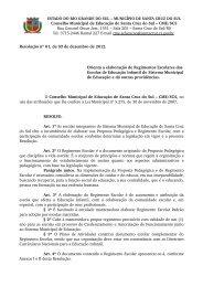 Resolução nº 01, de 03 de dezembro de 2012 - Prefeitura de Santa ...