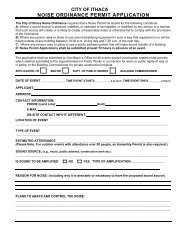 NOISE ORDINANCE PERMIT APPLICATION - E-Gov Link