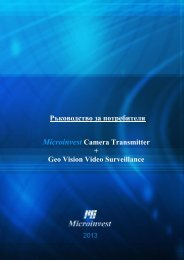 Microinvest Camera Transmitter + GEO Vision Video Surveillance